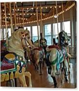 Battle Ship Cove Carousel Canvas Print