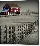 Battlefield Barn Canvas Print