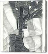 Battlefield Cross Canvas Print