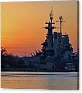 Battleship Sunset Canvas Print