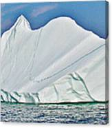 Batwing Iceberg In Saint Anthony Bay-newfoundland-canada  Canvas Print