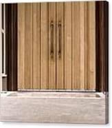 Baughman Center Front Door Canvas Print