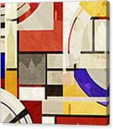 Bauhaus Rectangle Three Canvas Print