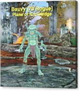 Bauvy As A Goblin Rogue Canvas Print