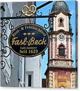 Bavarian Bakery Sign  Canvas Print