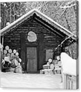 Bavarian Hut In Snow Canvas Print
