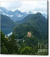 Bavarian Lake With Castle Canvas Print