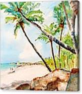 Bavaro Tropical Sandy Beach Canvas Print