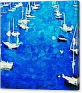 Bay Boats Canvas Print