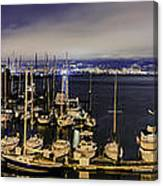 Bay Bridge East Span With Yachts Canvas Print