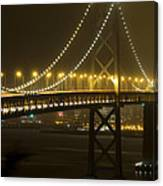 Bay Bridge Fog Canvas Print