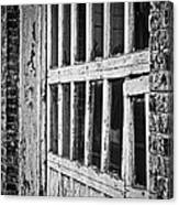 Bay Door In B/w Canvas Print