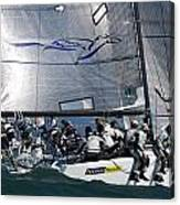 Bay Regatta Action Canvas Print