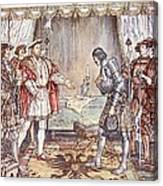 Bayard Presented To Henry Viii Canvas Print