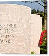 Bayeux British Cemetery Unknown Soldier Canvas Print