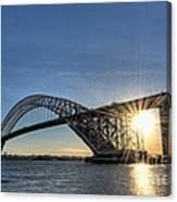 Bayonne Bridge Sunburst Canvas Print