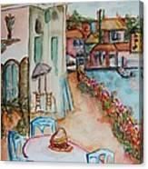 Bayside Bistro Canvas Print