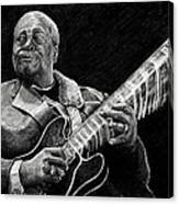 Bb King Of The Blues Canvas Print