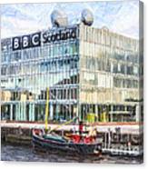 Bbc Scotland Broadcasting Centre Glasgow Canvas Print