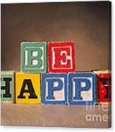 Be Happy - Jabberblocks Canvas Print