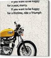 Be Happy Triumph Canvas Print