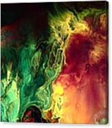 Be Together - Red Green Abstract Art By Kredart Canvas Print