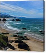 Beach At Ecola State Park Canvas Print
