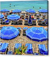 Beach At Nice France Canvas Print