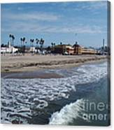 Beach At Santa Cruz Canvas Print