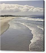 Beach At Santa Monica Canvas Print