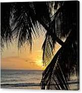 Beach At Sunset 1 Canvas Print