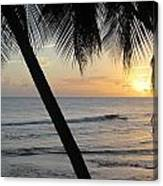 Beach At Sunset 2 Canvas Print
