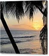 Beach At Sunset 5 Canvas Print
