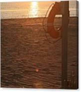 Beach At Sunset Canvas Print