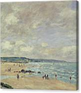 Beach At Trouville Canvas Print