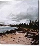 Beach At Victor Canvas Print