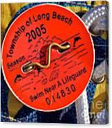 Beach Badge 2005 Canvas Print