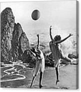 Beach Ball Dancing Canvas Print