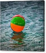 Beach Ball Float Canvas Print