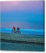Beach Biking  Canvas Print