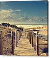Beach Boardwalk Canvas Print