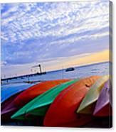 Beach Canoe Canvas Print