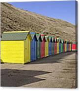 Beach Chalets - Whitby Canvas Print