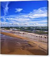 Beach Combing Canvas Print