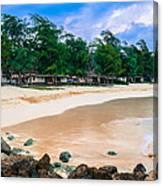 Beach Cottages Bellows Canvas Print