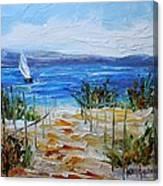 Beach Dunes Summer's End Canvas Print