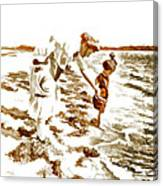 Beach Family  Canvas Print
