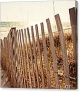 Beach Fencing Canvas Print