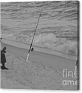 Beach Fishing Canvas Print