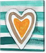 Beach Glass Hearts Canvas Print